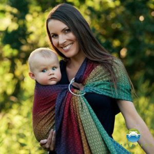 little-frog-lovely-black-rainbow-ringsling