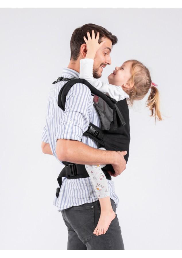 Isara-trendsetter-toddler-draagzak-zwart