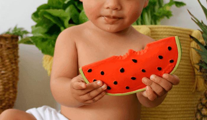 bijt-speeltje-meloen-oli-and-carol